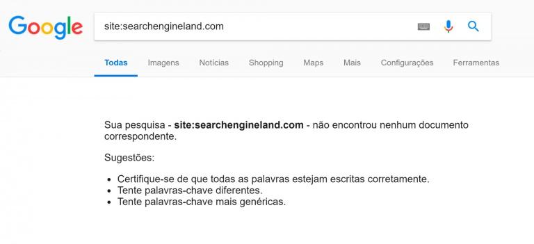 search engine land foi removido dos resultados de buscas por erro do google