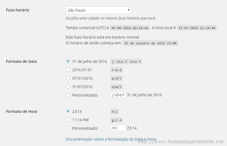 wordpress configuracoes geral