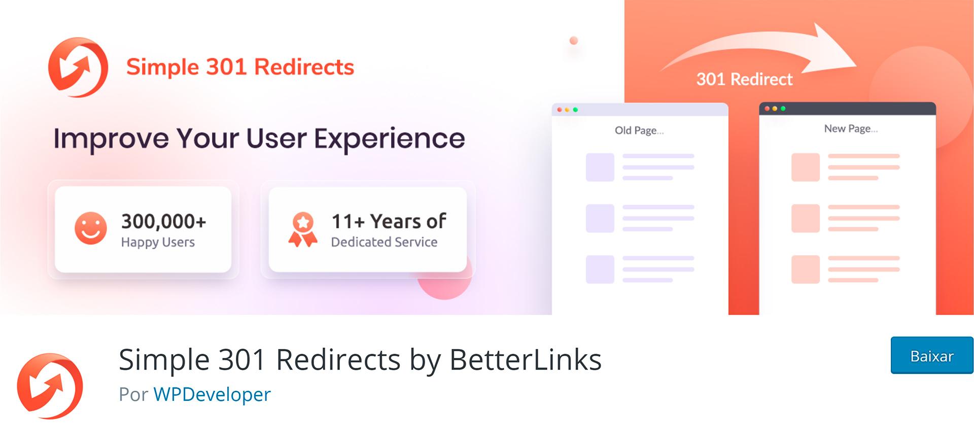 WordPress Plugins Simple 301 Redirects