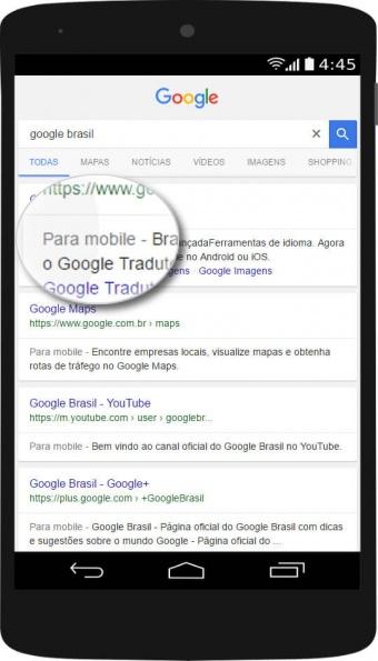 google rotulo para mobile