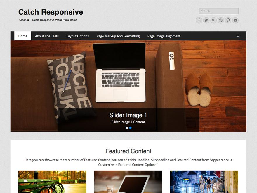 tema wordpress catch responsive