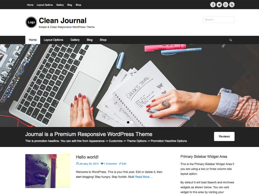 tema wordpress cleanjournal