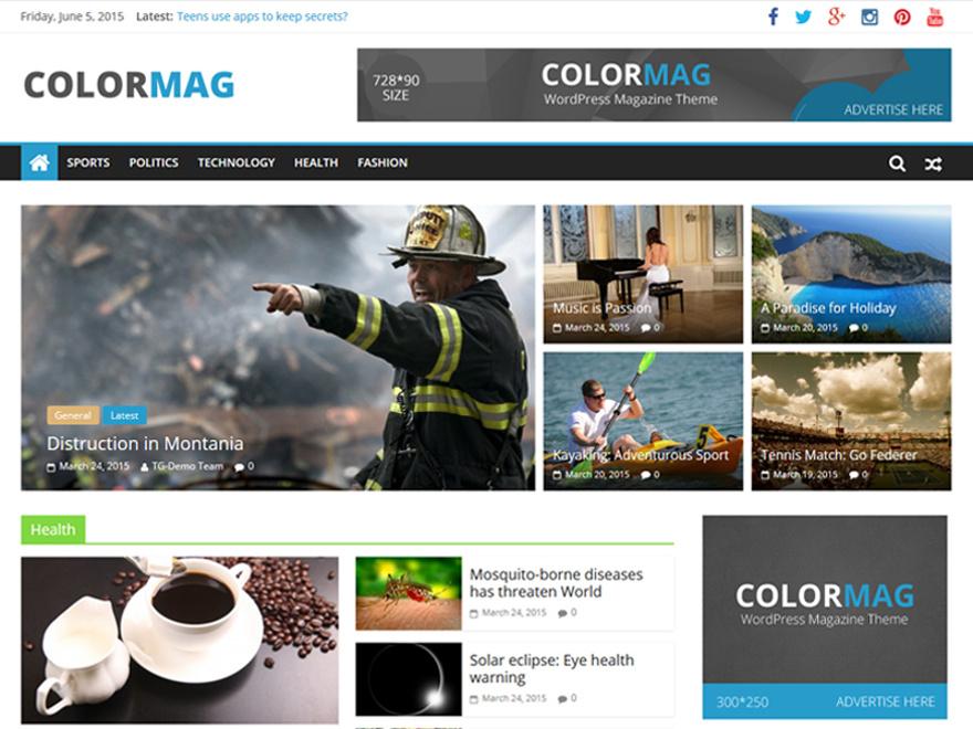tema wordpress colormag