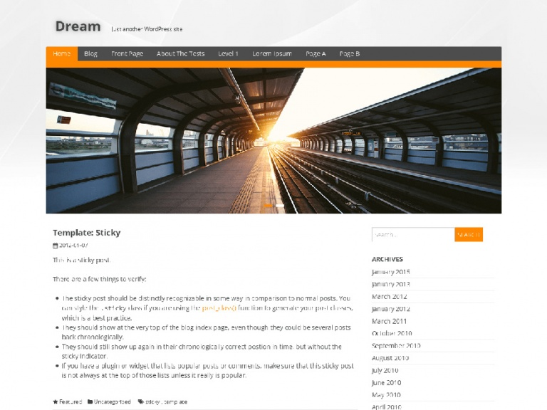 tema wordpress dream