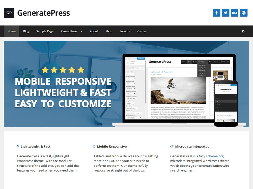 tema wordpress generatepress