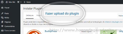 fazer upload de plugin