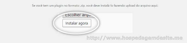 instalar plugin via arquivo zip no wordpress