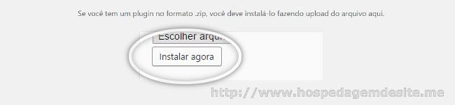 instalar plugin via arquivo zip no wordpress