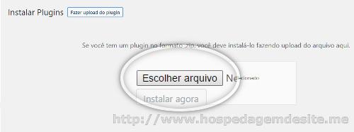 selecionar plugin wordpress