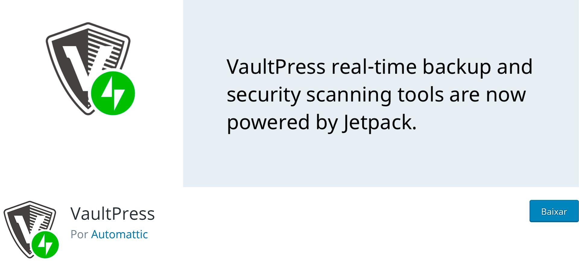 wordpress plugins vaultpress