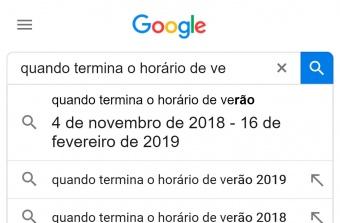 google resultado é mostrado antes mesmo de clicar em buscar para horários