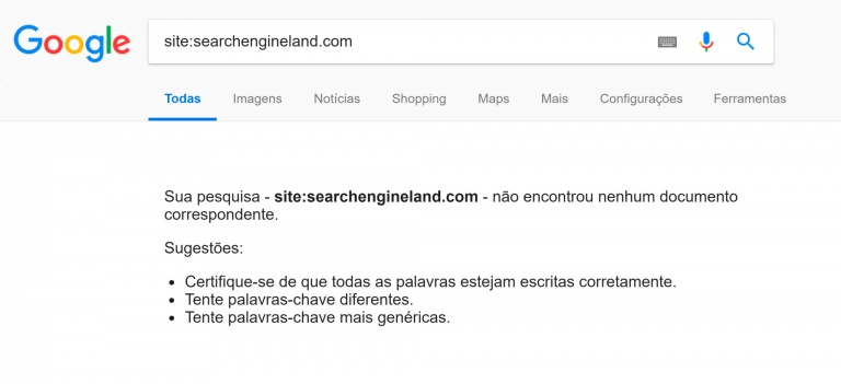 search engine land foi removido dos resultados de buscas por erro do google