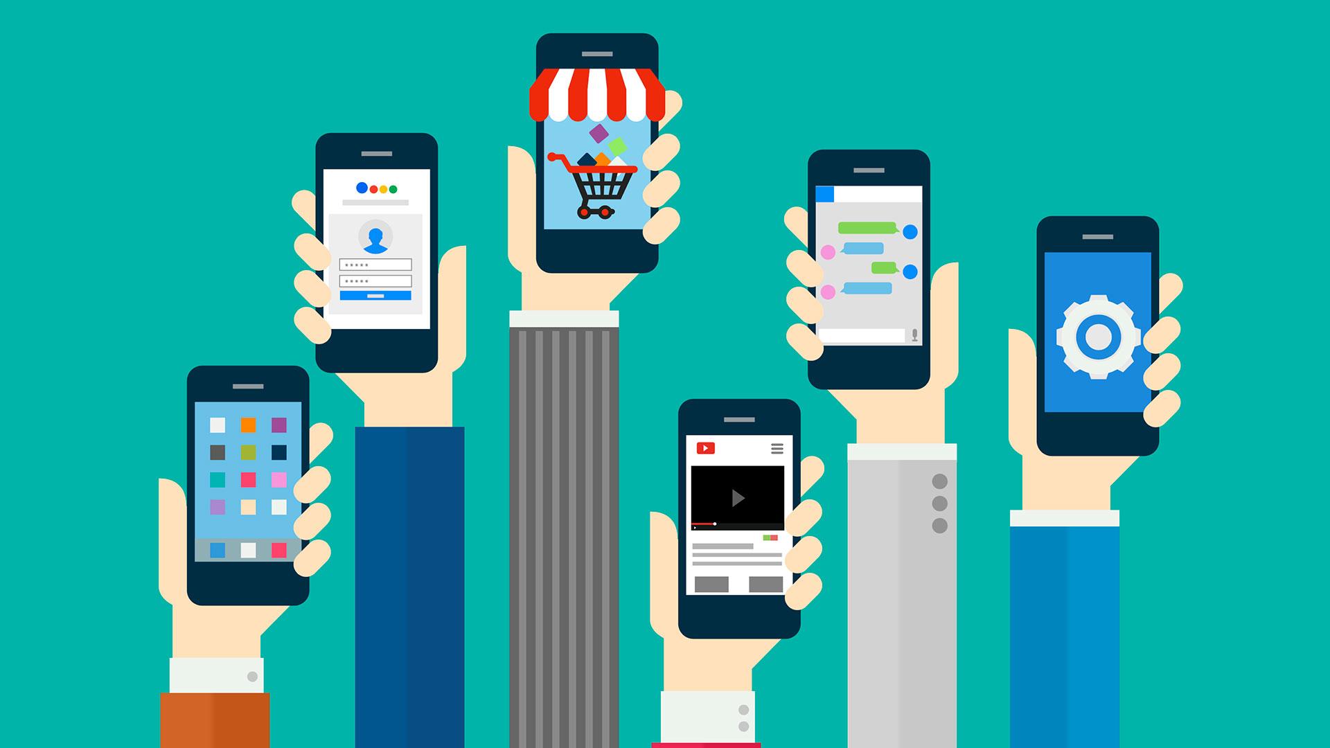 sites otimizados para dispositivos móveis