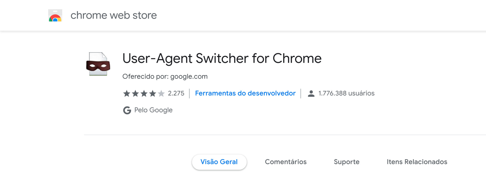 user agent switcher for chromer plugin