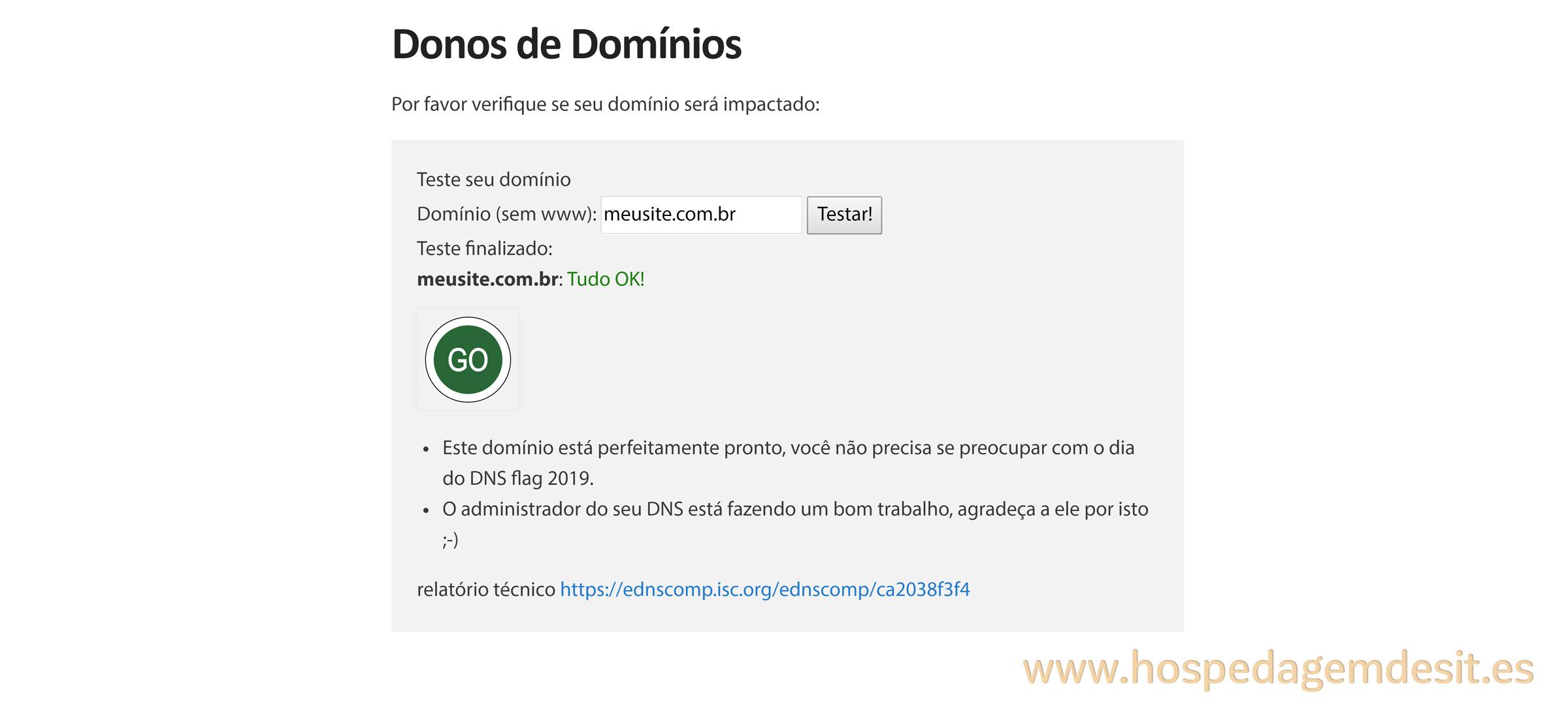 dnsflagday dominio com servidor ok