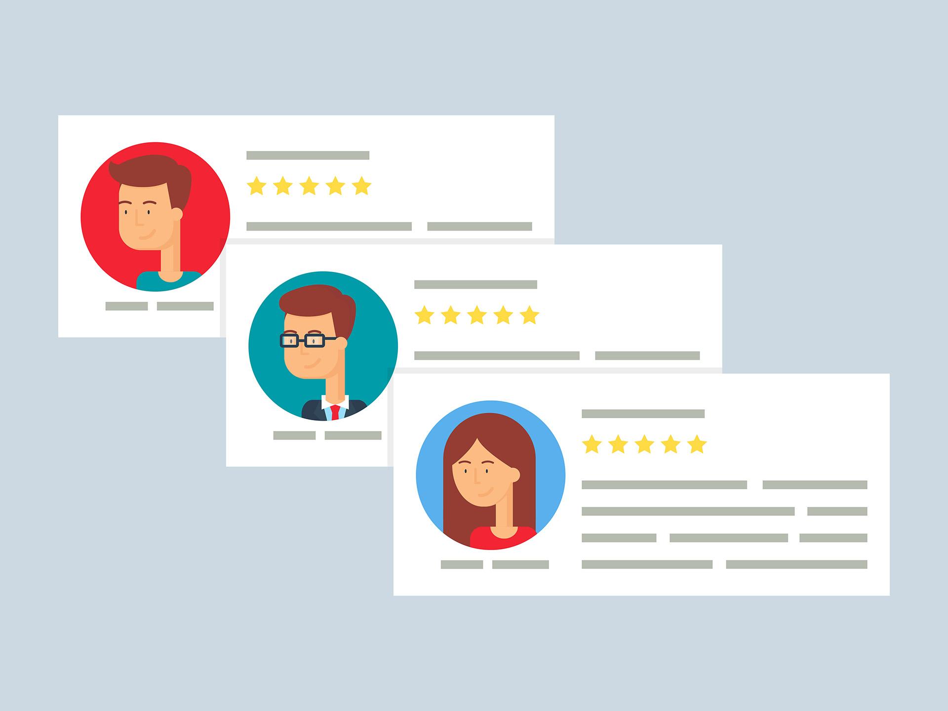 avaliações de clientes para sua empresa