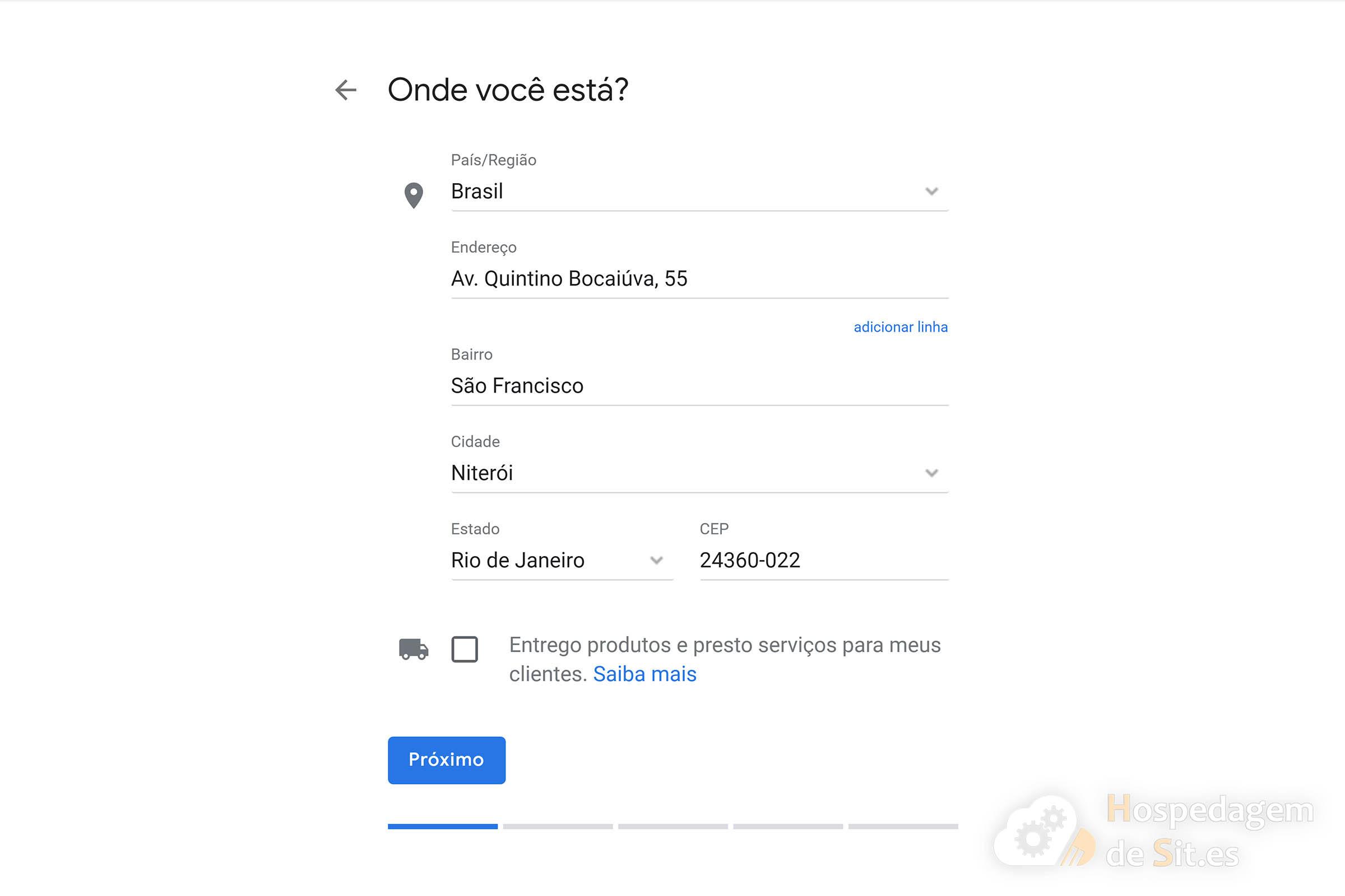 google meu negócio endereço