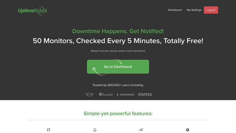 uptimerobot erramenta para monitorar uptime de sites