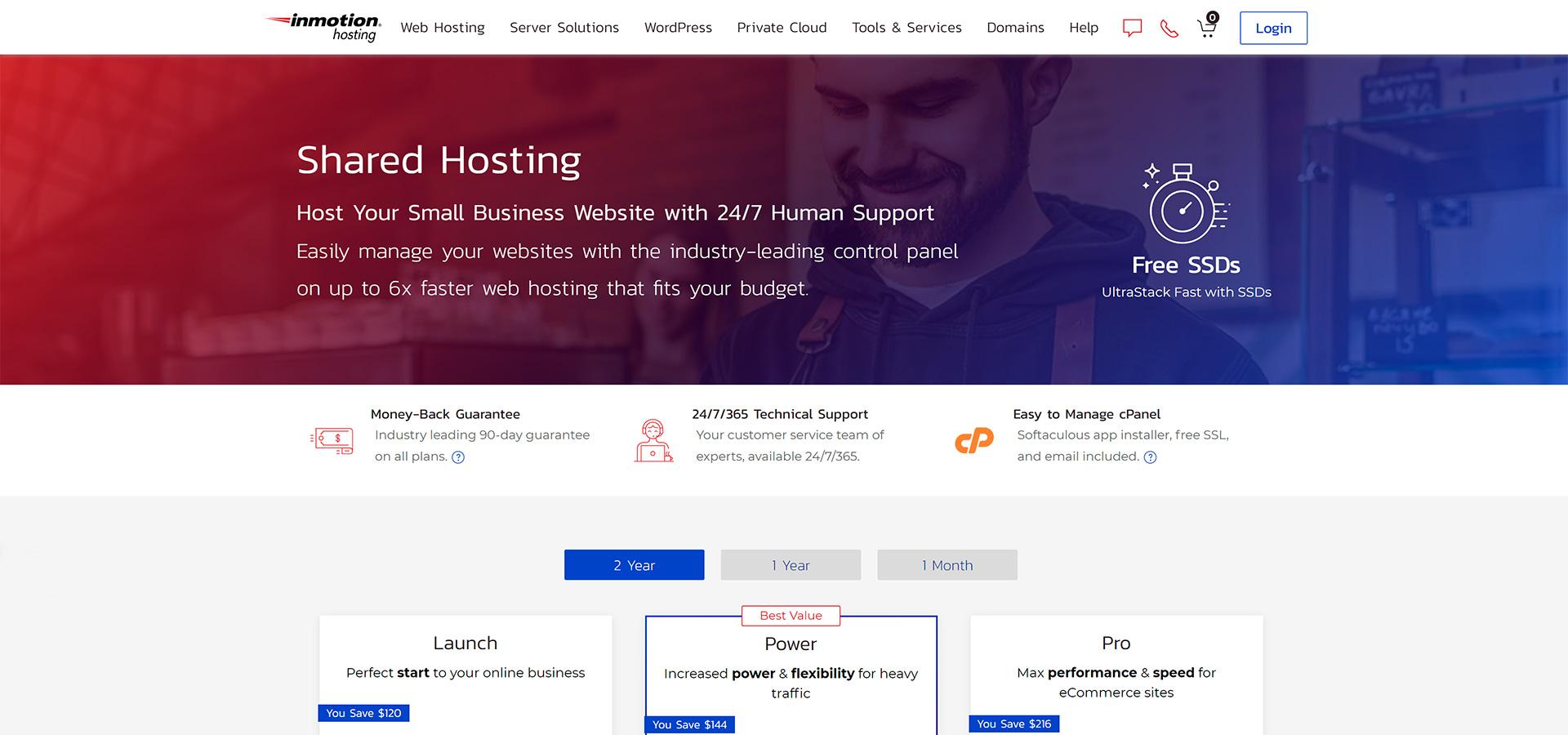 melhor hospedagem de site internacional inmotionhosting