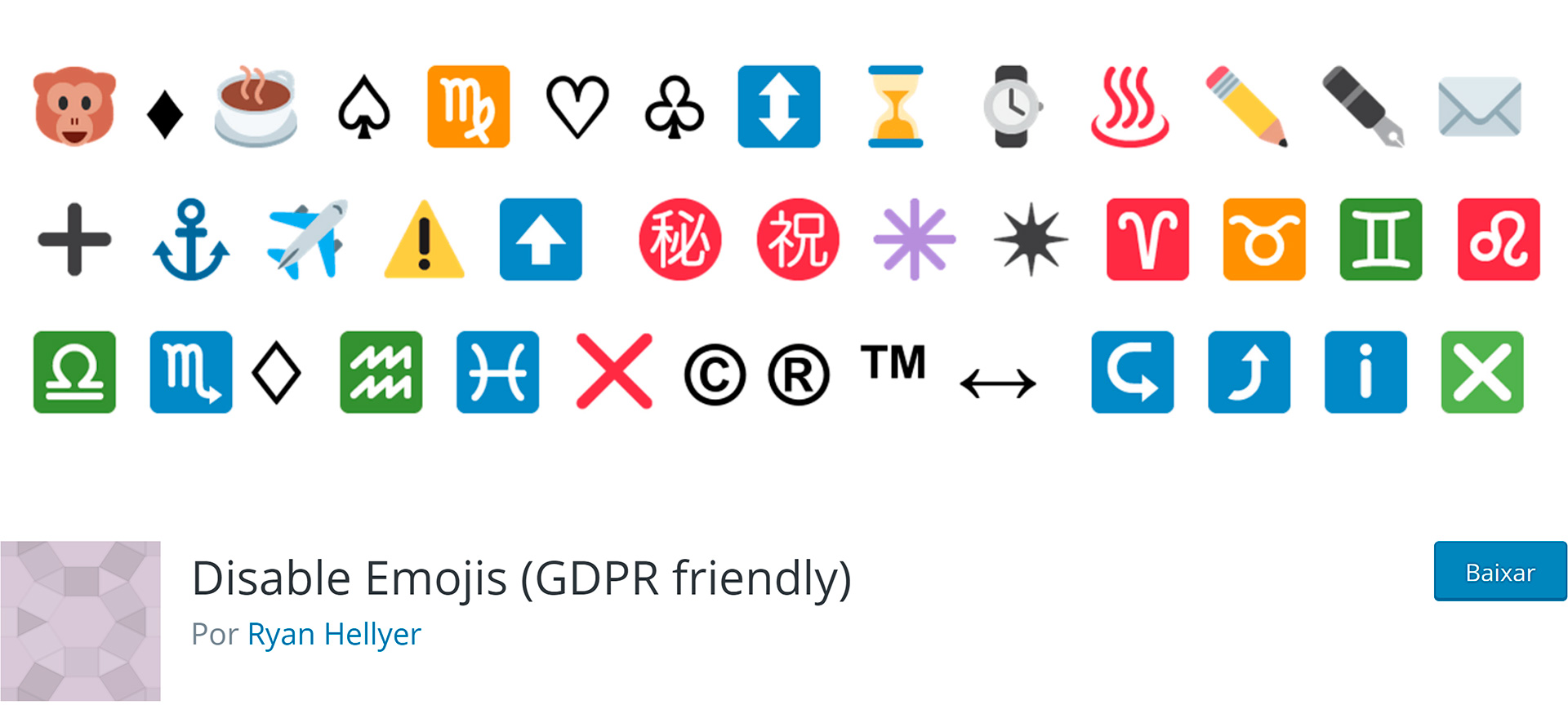 WordPress Plugins Disable Emojis